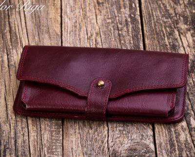 Women's natural leather wallet W221C