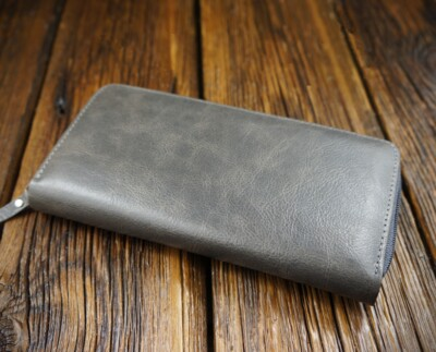 Men's natural leather wallet W301G