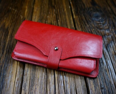 Women's natural leather wallet W221R