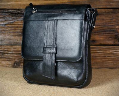 Men's leather messenger bag MB71B